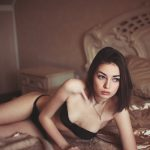 Izmir escort Lesa lies on the bed, looks into the distance, beautiful lingerie, accurate figure, the petite girl lying naked pretty sensuality, meet Lesa close!