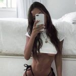 Russia escort agency chick Alyona loves her reflection in a mirror and we love it too